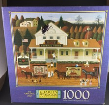 Treehopper's General Store Charles Wysocki Puzzle 1000 pieces Complete 22 x 25 - $14.00