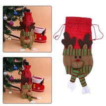 (03)10pcs Creative Merry Christmas Santa Wine Bottle Bag Cover Xmas Dinn... - $50.00