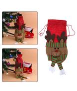 (03)10pcs Creative Merry Christmas Santa Wine Bottle Bag Cover Xmas Dinn... - $50.00