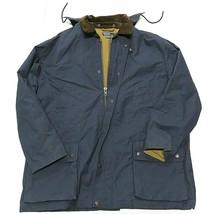 90s Polo By Ralph Lauren Blue Full Zip Up Coat w/ Hood Adult Men's Size X-Large - $158.35