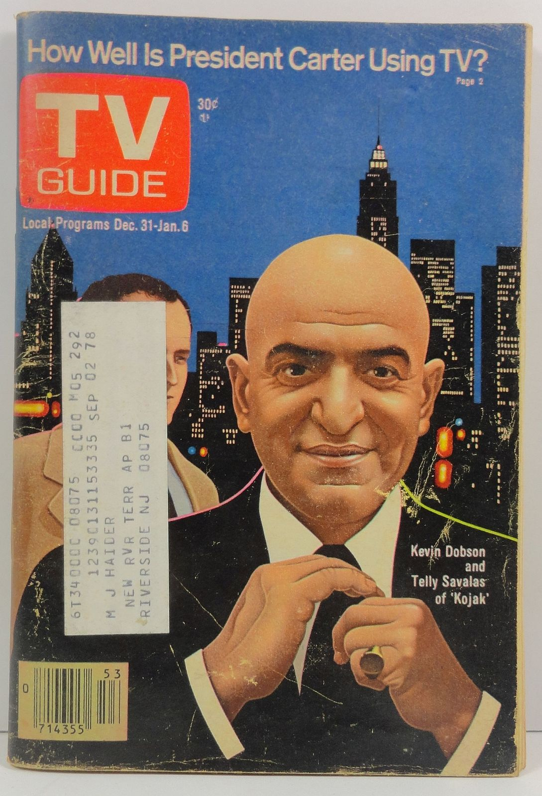 TV Guide Magazine December 31, 1977  Telly Savalas Kevin Dobson