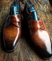 Handmade unique design patina finish loafers shoes for men thumb200