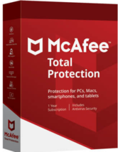 McAfee Total Protection 2021 1 Year 5 Devices (Download) - $19.49