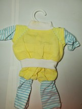 Original Cabbage Patch Kids Doll Clothes Yellow/Blue Jogging Outfit EUC - $19.79