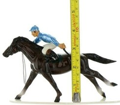 Hagen Renaker Specialty Horse with Jockey Racing Ceramic Figurine image 2