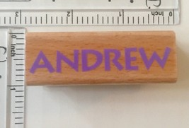 Andrew Custom Name Rubber Stamp Personalized Wood Mounted Stampcraft - $3.95