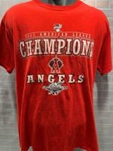 Anaheim ANGELS 2002 American League Champions World Series T-Shirt Size M - $12.86
