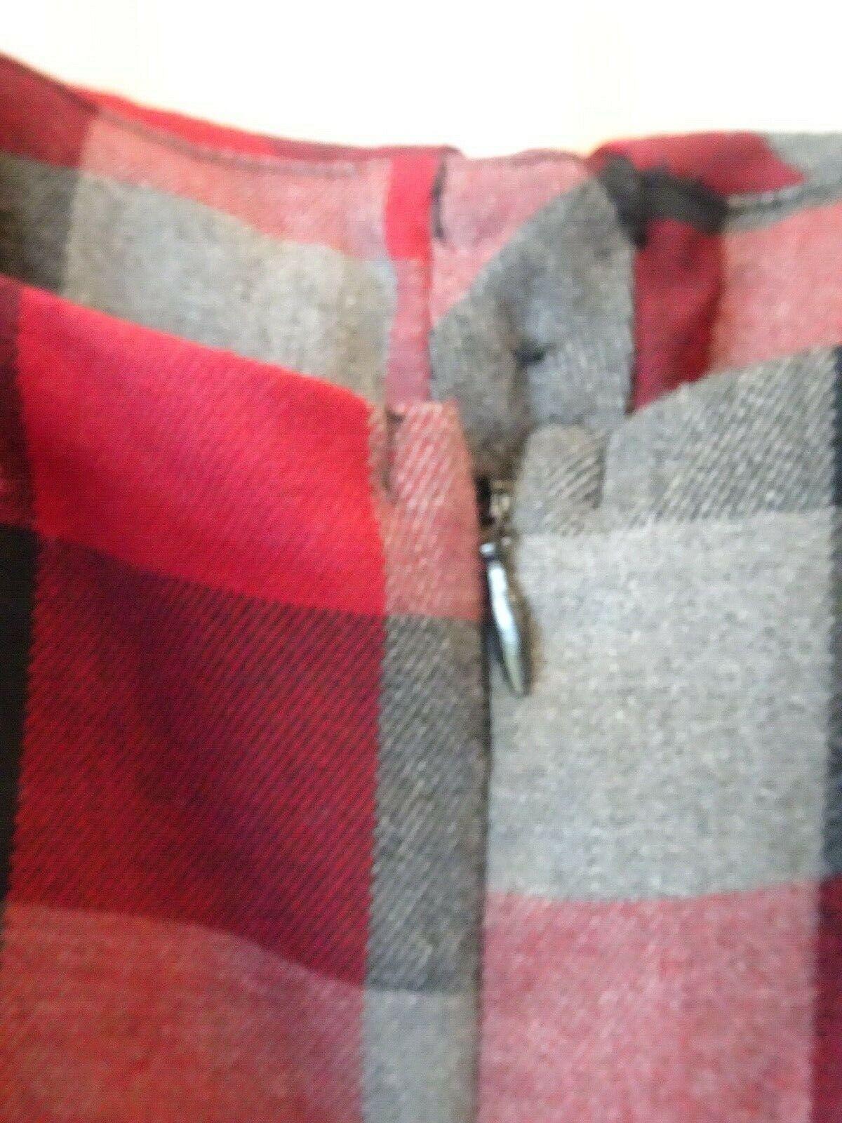 red PLAID DRESS JUMPER S