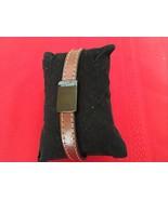 """TED BAKER LONDON Brown Leather & Magnetic Clasp Designer Bracelet 8 1/4"""" - $30.00"""