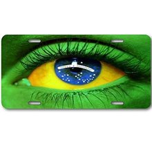 Forever Signs Of Scottsdale Custom License Plate Brazil Brazilian Nation... - $12.69