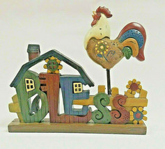 """Home Sign """"Bless"""" Farm Scene 8"""" X 7"""" Polyresin Stand alone figure - $12.99"""