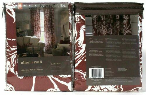 "Primary image for 2 Allen & Roth 0939111 Jacklyn 44"" X 84"" Wine Polyester & Cotton Back Tab Panels"