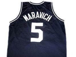 Pete Maravich #5 Daniel High School Men Basketball Jersey Navy Blue Any Size image 5