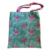Flamingo Tote Bag Summer Canvas Beach Bag Travel  - $13.99
