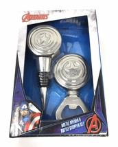 Avengers Opener & Bottle Stopper Two Piece Set Captain America Kitchen B... - $12.82