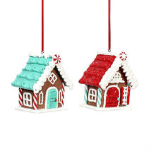 Darice Christmas Gingerbread House Ornament: Claydough, 3 x 3 inches, 2 ... - $8.99