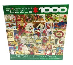 Eurographics Vintage Christmas Cards 1000 Piece Jigsaw Puzzle Made in th... - $14.95