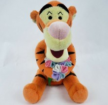 "Disney Winnie the Pooh Tigger 8"" Plush Tiger Flower Bouquet Stuffed Anim... - $15.71"