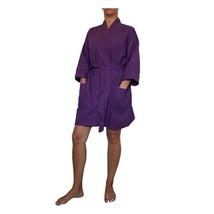 """36"""" Purple Cotton Waffle Kimono Robe, Adult One Size Fits Most - $22.50"""
