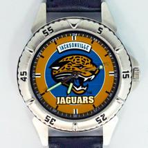 Jacksonville Jaguars NFL, Fossil Unworn Mans Vintage 1997 Leather Band Watch $79 - $78.06