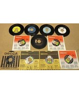 Bundle of 11 Miscellaneous 7in Vinyl Records Decca Kapp Almo GNP Starday... - $20.80