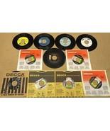 Bundle of 11 Miscellaneous 7in Vinyl Records De... - $20.80
