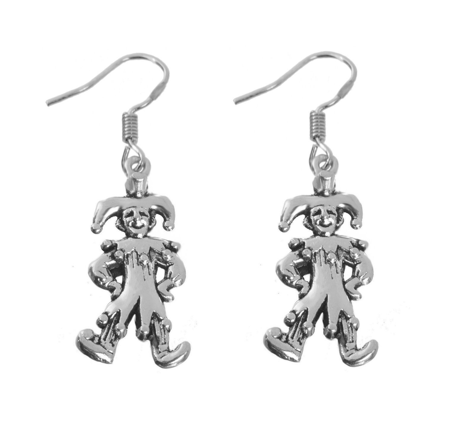 NICE Sterling Silver 925 medieval Court Jester Joker Clown Funny entertainer Ear