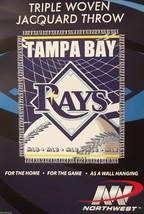 "Tampa Bay Rays 48"" X 60"" Woven Jacquard Afghan Throw Blanket Free Shipping - $16.25"