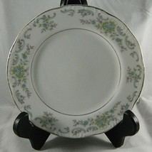 "Vintage Norleans Rosonata China 6.5"" Bread Plate Blue & Pink Flowers Scr... - $5.88"