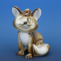 Vintage Zsolnay Hungary Hand Painted Brown Fox Porcelain Figurine