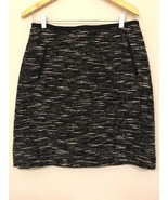 Talbots Women's 10 Pencil Skirt Tweed Career Wool Blend Black White - $13.86