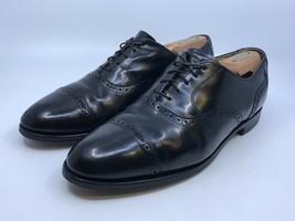 Men's Bostonian Impressions Black Cap Toe Semi Brogue Oxford Dress Shoes Sz 12D - $19.80