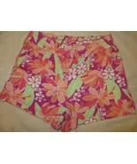 Gymboree Mix N Match Pink Flower Floral Knit Shorts Size L Large 10-12 1... - $15.76