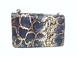 Zara Leather Crossbody Purse Handbag Bag Animal Reptile Chain Eyelet 238... - $78.21