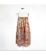 Dark orange purple floral print 100% silk POMANDERE shift dress 2 36 - $79.99