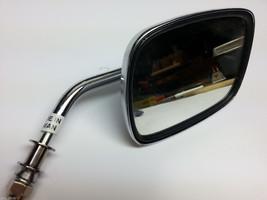 Chrome Harley Davidson handle bar mount motorcycle rear view mirror adjust stem - $19.75