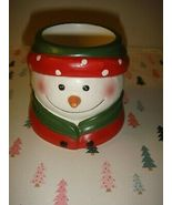 Yankee Candle Snowman Face~Head Tea-Light~Votive Holder-1 - $14.99