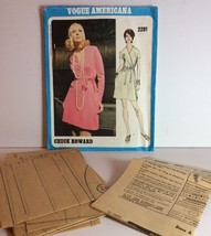 Vogue Americana Sewing Pattern 2281 Chuck Howard 16 Vtg 1970 One Pc Dres... - $49.84