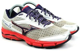 Mizuno Wave Legend 3 Women's Pink, Purple, White running Athletic shoes size 8.5 - $33.42