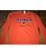 CHAMPION Eco Illinois Orange Crewneck Sweatshirt Mint Large - $18.99