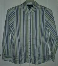 Denim & Co. Women's Size S Button Down Blouse Euc - Freshly Laundered!! - $14.69