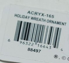 Ganz Crystal Expressions ACRYX165 Holiday Wreath Ornament Red Green Set of 6 image 6