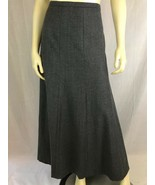 Talbots Skirt 12 Gray Wool Nylon Lycra Fabric Made In Italy Lined Long P... - $58.41