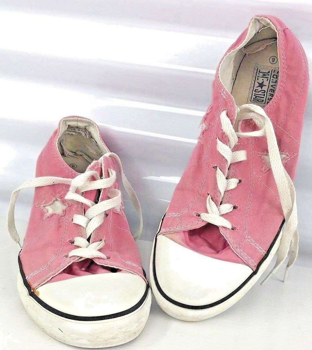 Pink Converse Woman 6 All Stars Low Top Hipster Shoes Canvas