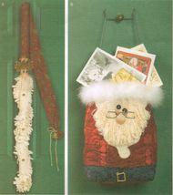 Christmas Decorations Santa Bag Card Holder Door Decor Greeter Sew Pattern - $11.99