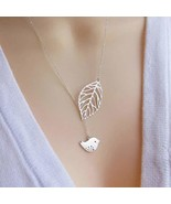 Yalice Lovely Bird Lariat Necklace Chain Hollow Leaf Y Necklaces Jewelry... - $7.85