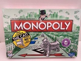 Hasbro Monopoly Classic Board Game Now Including The Cat! NIB - $19.75