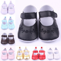 Newborn Crib Baby Princess PU Leather Flower Kids Shoes Sneaker Girls So... - $5.80
