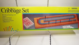 Vtg 1992 Pavilion Deluxe Cribbage Set 3 Player Bicycle Playing Cards New... - $15.88