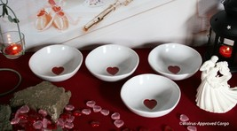 WILLIAMS-SONOMA VALENTINE BOWLS (4) -NIB- SERVE UP LOVE FROM THE HEART! - $49.95